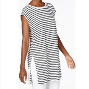 Eileen Fisher organic linen striped tunic